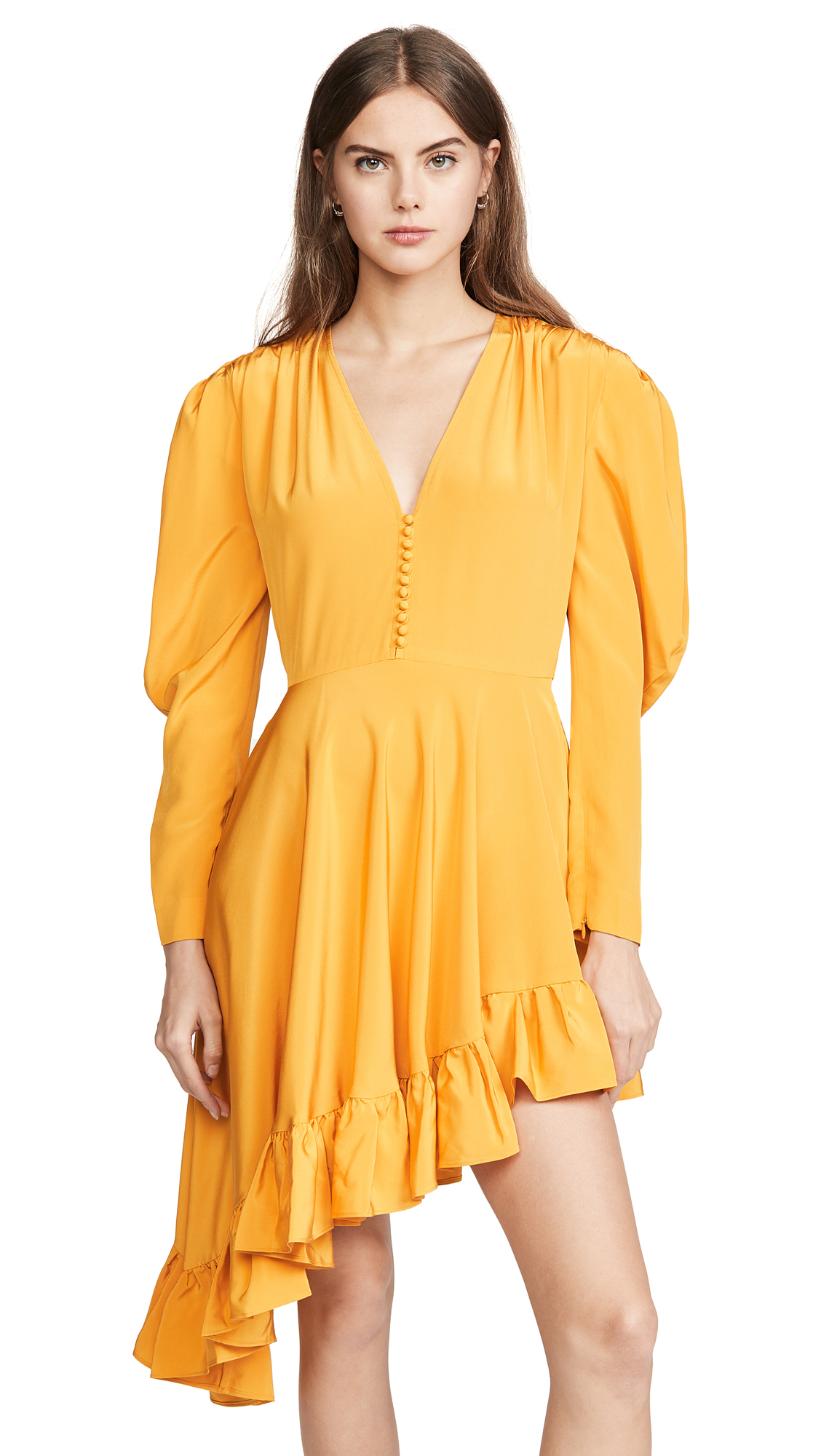 Buy pushBUTTON online - photo of pushBUTTON Diagonal Line Frill Dress