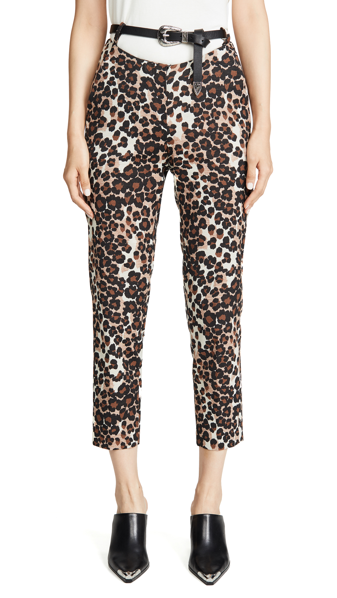 Buy pushBUTTON online - photo of pushBUTTON Leopard Print Pants