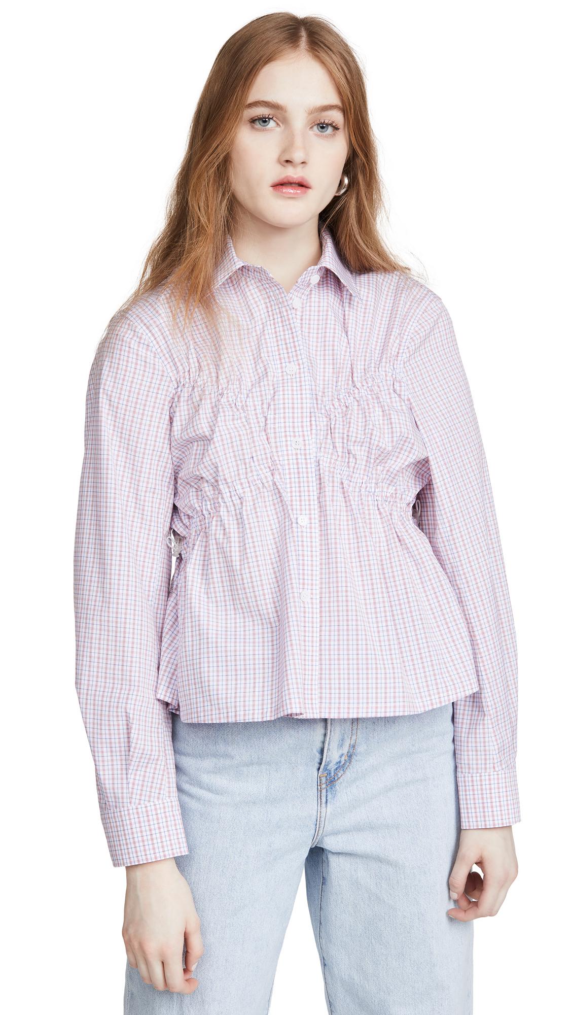 pushBUTTON Bra Shape Shirring Blouse - 50% Off Sale