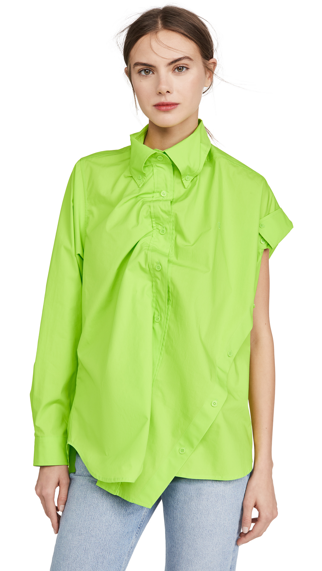 pushBUTTON Collar Detail Sleeved Shirt - 50% Off Sale
