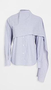 pushBUTTON Scarf Combi Shirt