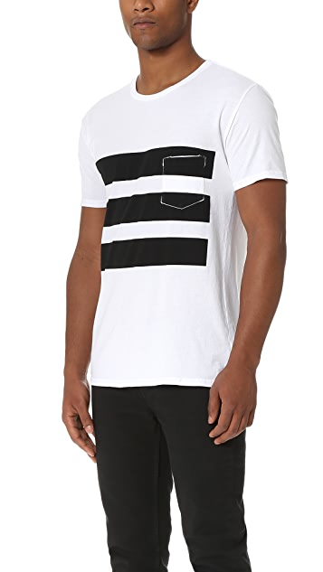 Quality Peoples Surf Stripes Pocket Tee