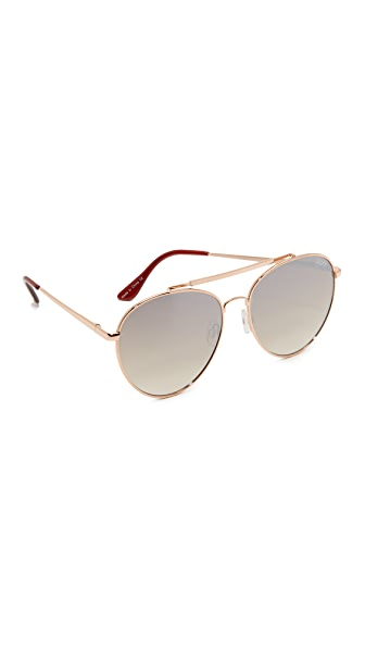 Quay Lickety Split Sunglasses - Gold/Brown