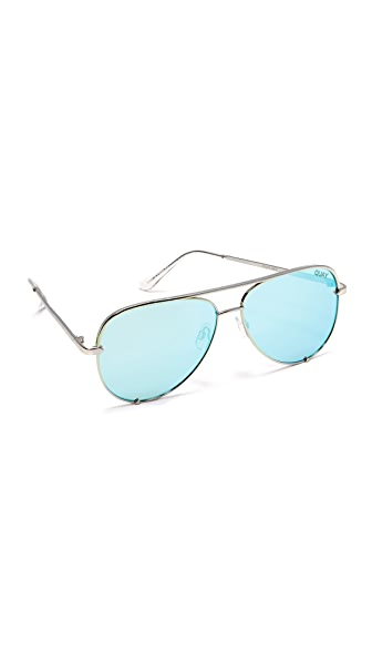 Quay Quay x Desi Perkins High Key Sunglasses - Silver/Blue