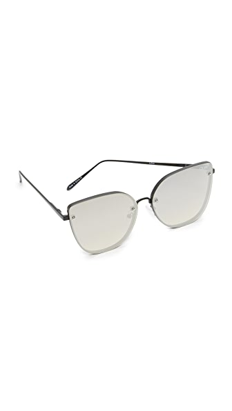 Quay Lexi Sunglasses - Black/Silver