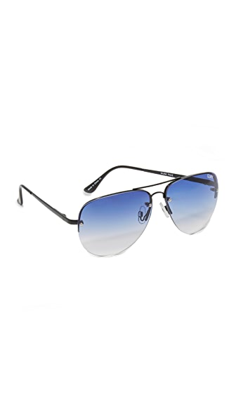 Quay Muse Fade Sunglasses - Black/Navy
