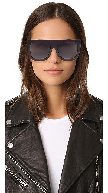 Quay Cafe Racer Flat Top Sunglasses