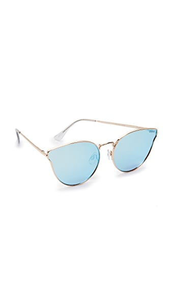 Quay All My Love Sunglasses - Gold/Blue
