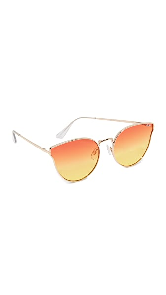 Quay All My Love Sunglasses - Gold/Orange