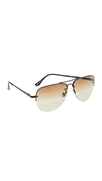 Quay Muse Fade Sunglasses - Black/Brown
