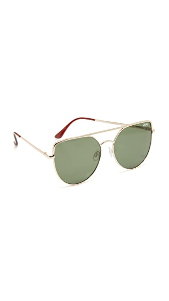 Quay Santa Fe Sunglasses - Gold/Green