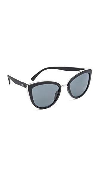Quay My Girl Sunglasses - Black/Smoke