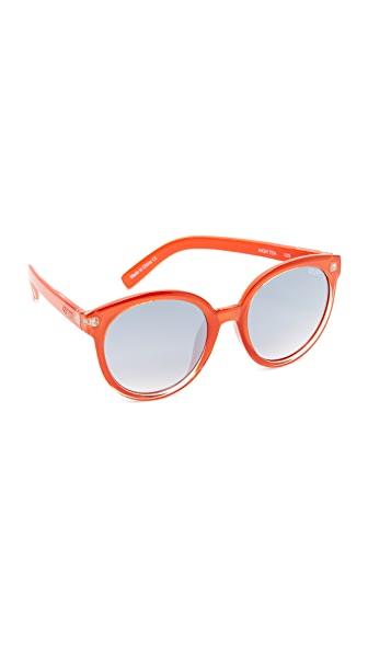 Quay High Tea Sunglasses - Tangerine/Silver