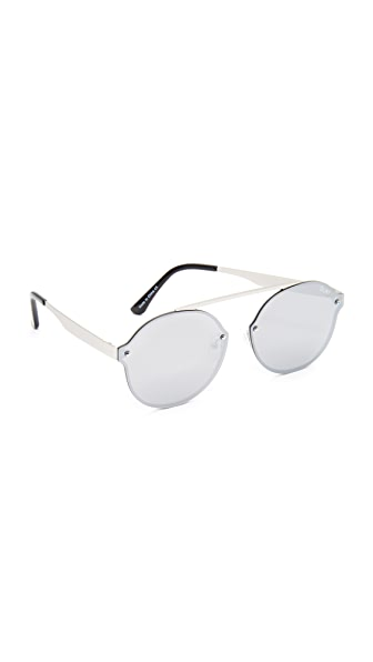 Quay Camden Heights Sunglasses - Silver/Silver