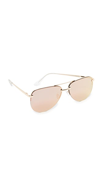 Quay The Playa Sunglasses - Gold/Pink