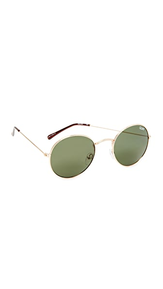 Quay Mod Star Sunglasses - Gold/Green