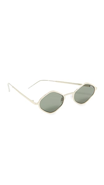 Quay #QUAYXKYLIE Purple Honey Sunglasses - Gold/Green