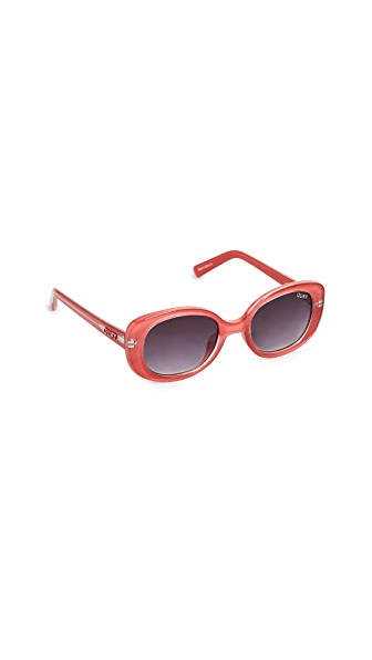 Quay Lulu Sunglasses In Red/Fade