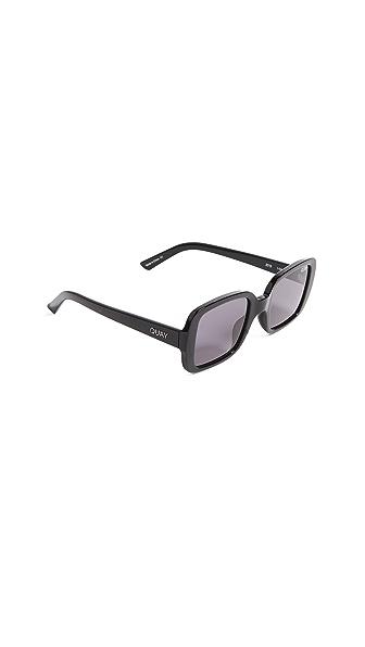 Quay x KYLIE 20s Sunglasses In Black/Smoke