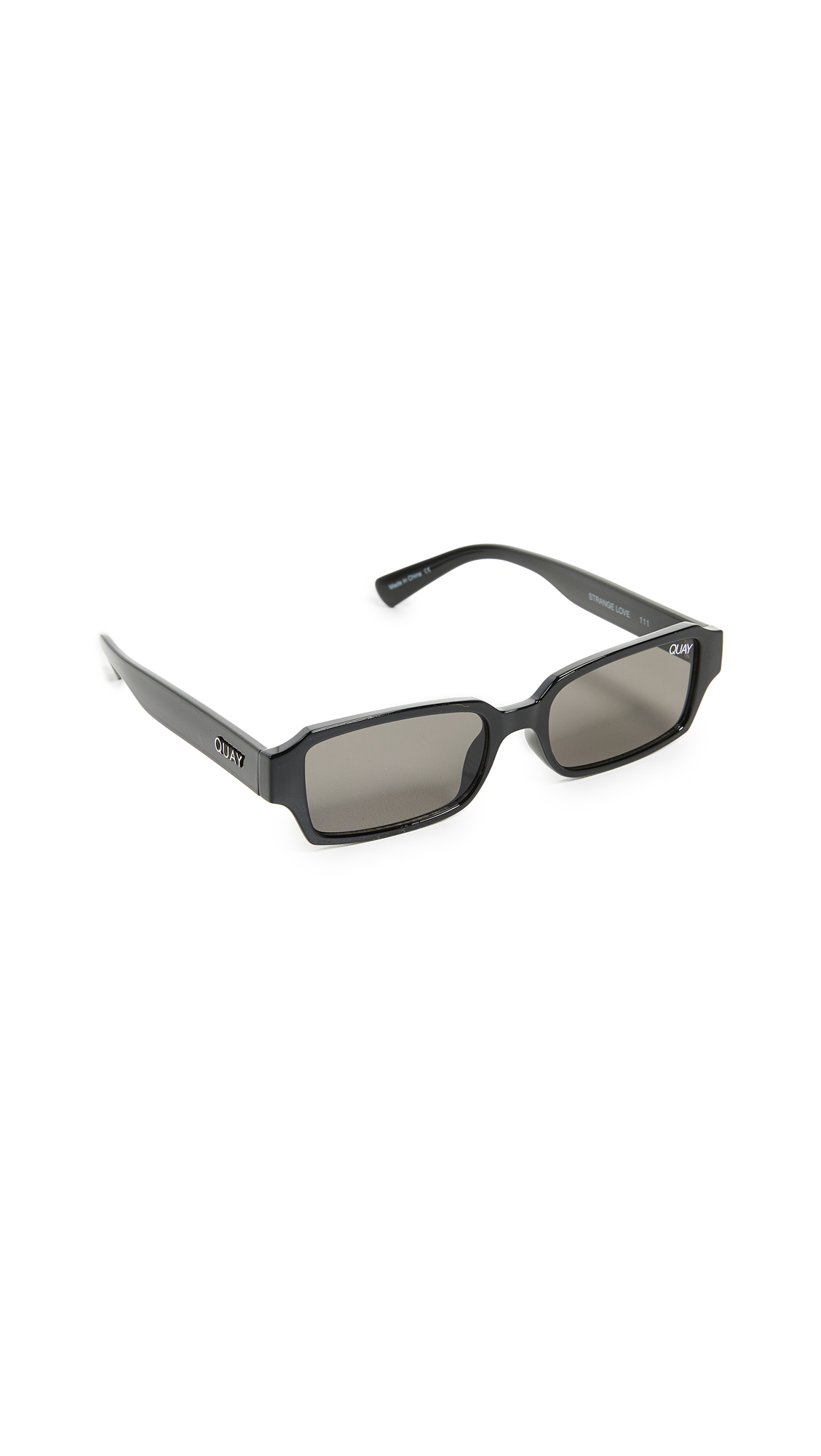 Quay Strange Love Sunglasses In Black/Black