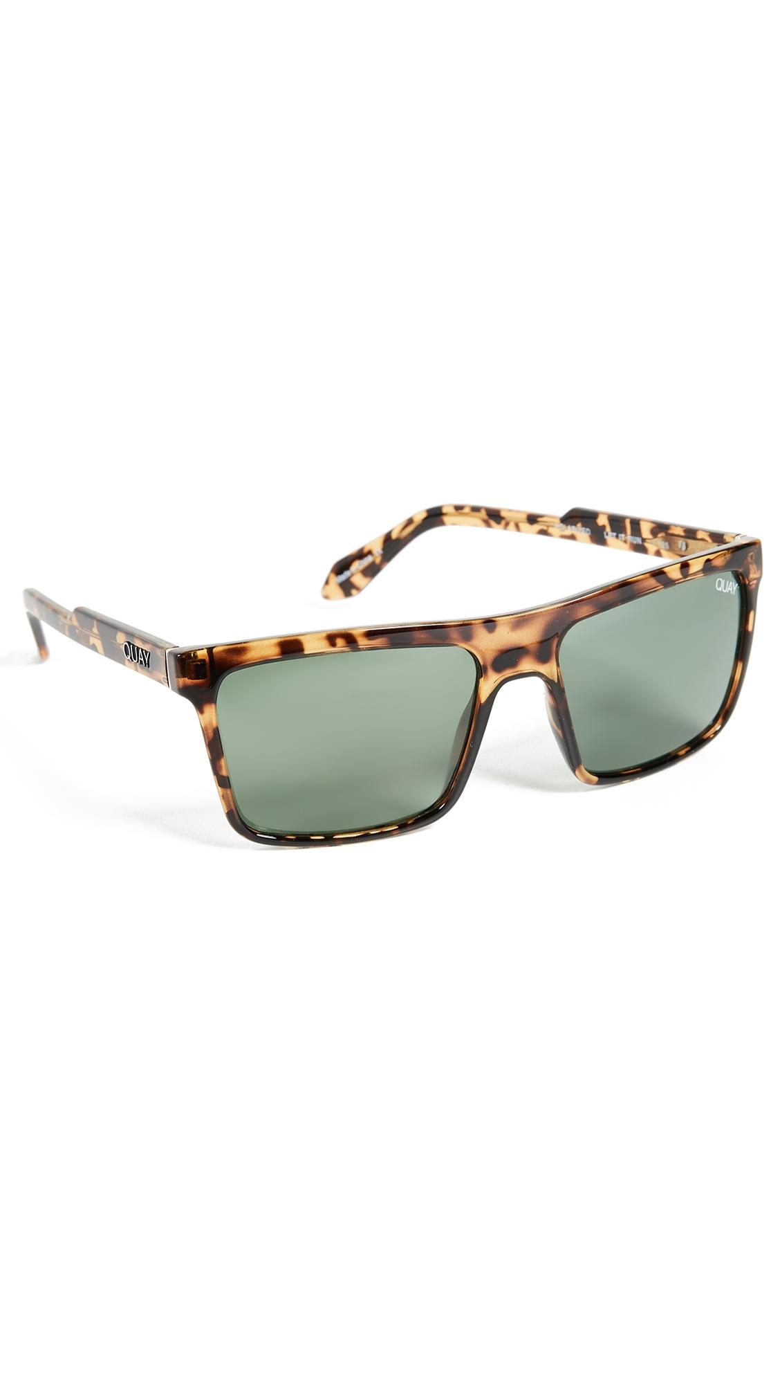 ac5d0f3eba Quay Let It Run Sunglasses In Tortoise Green