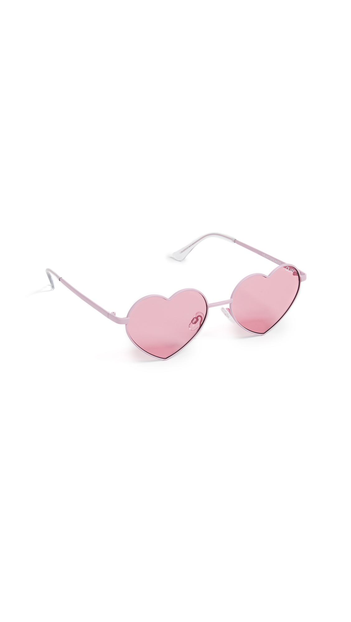 Quay Heartbreaker Sunglasses In Pink/Pink