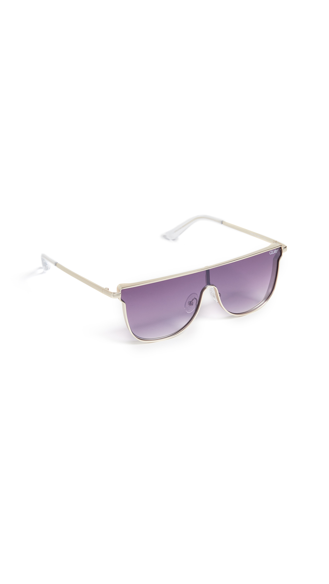 CAN YOU NOT 140MM SHIELD SUNGLASSES - GOLD/ PURPLE