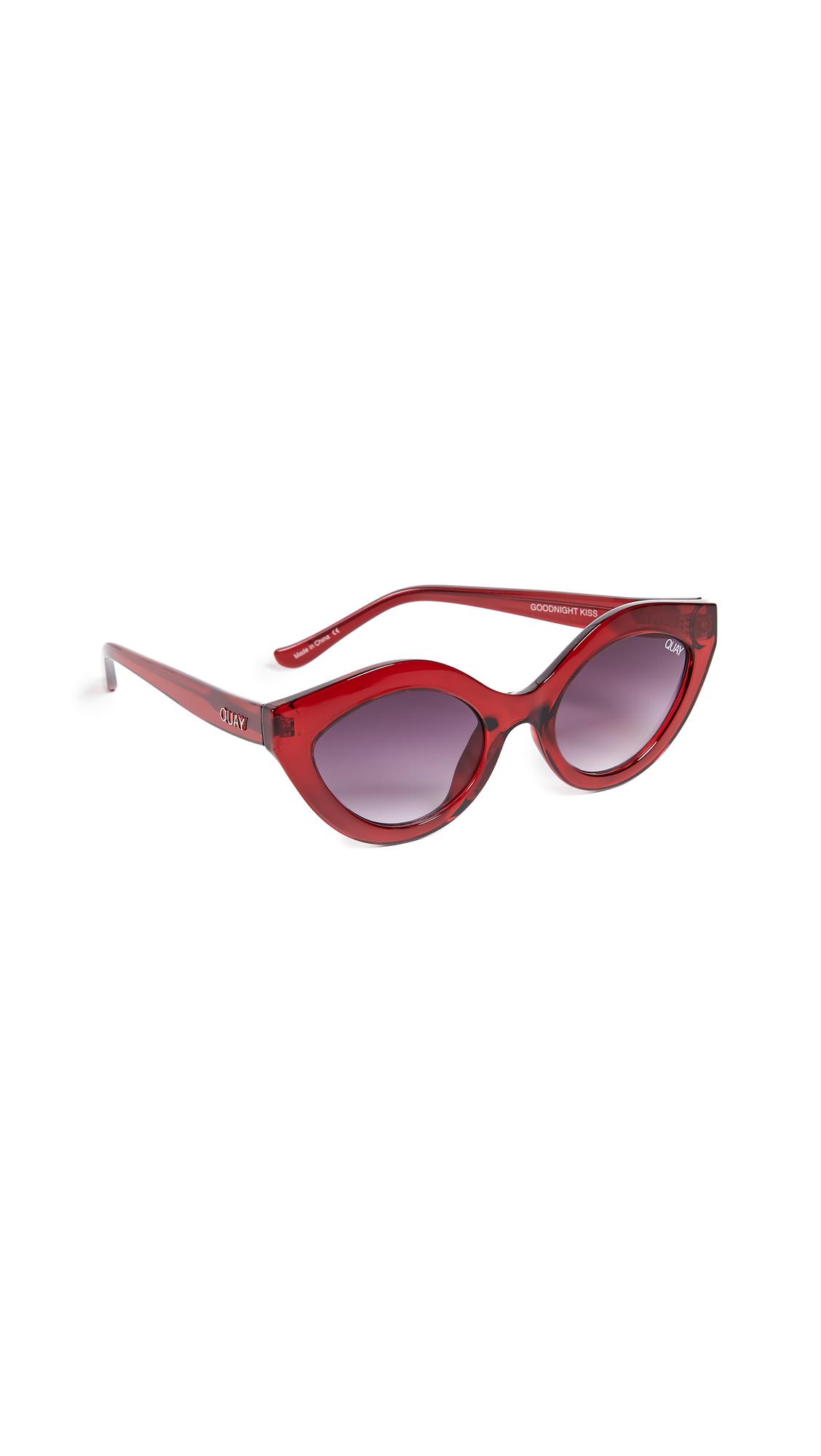 QUAY Goodnight Kiss Cat Eye Sunglasses - Red / Purple Fade in Red/Purple