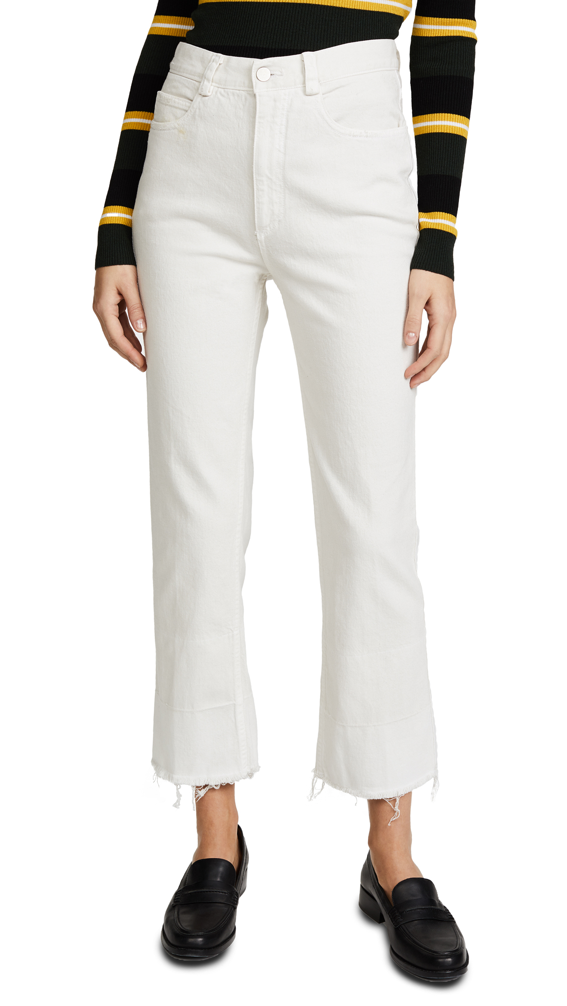 Rachel Comey Slim Legion Jeans - Dirty White