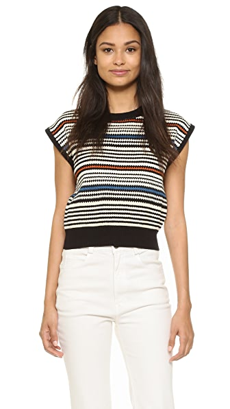 Rachel Comey Multi Stripe Cropped Sweater - Multi