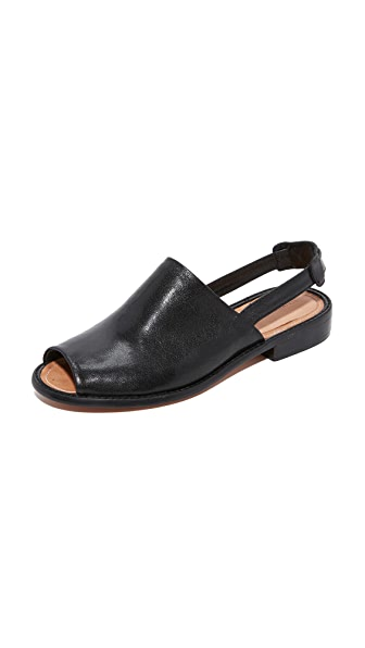 Rachel Comey Persea Slingback Sandals - Polished Black