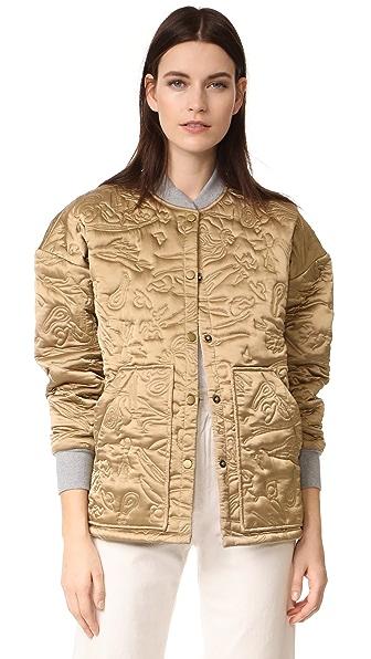Rachel Comey Matrimony Bomber Jacket In Gold