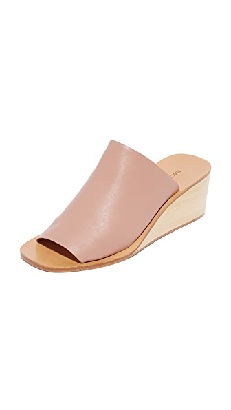 Rachel Comey Lyell Wedge Slides - Polished Clay