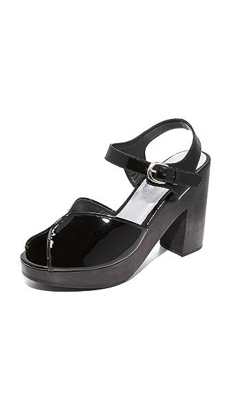 Rachel Comey Roddick Platform Clogs - Black