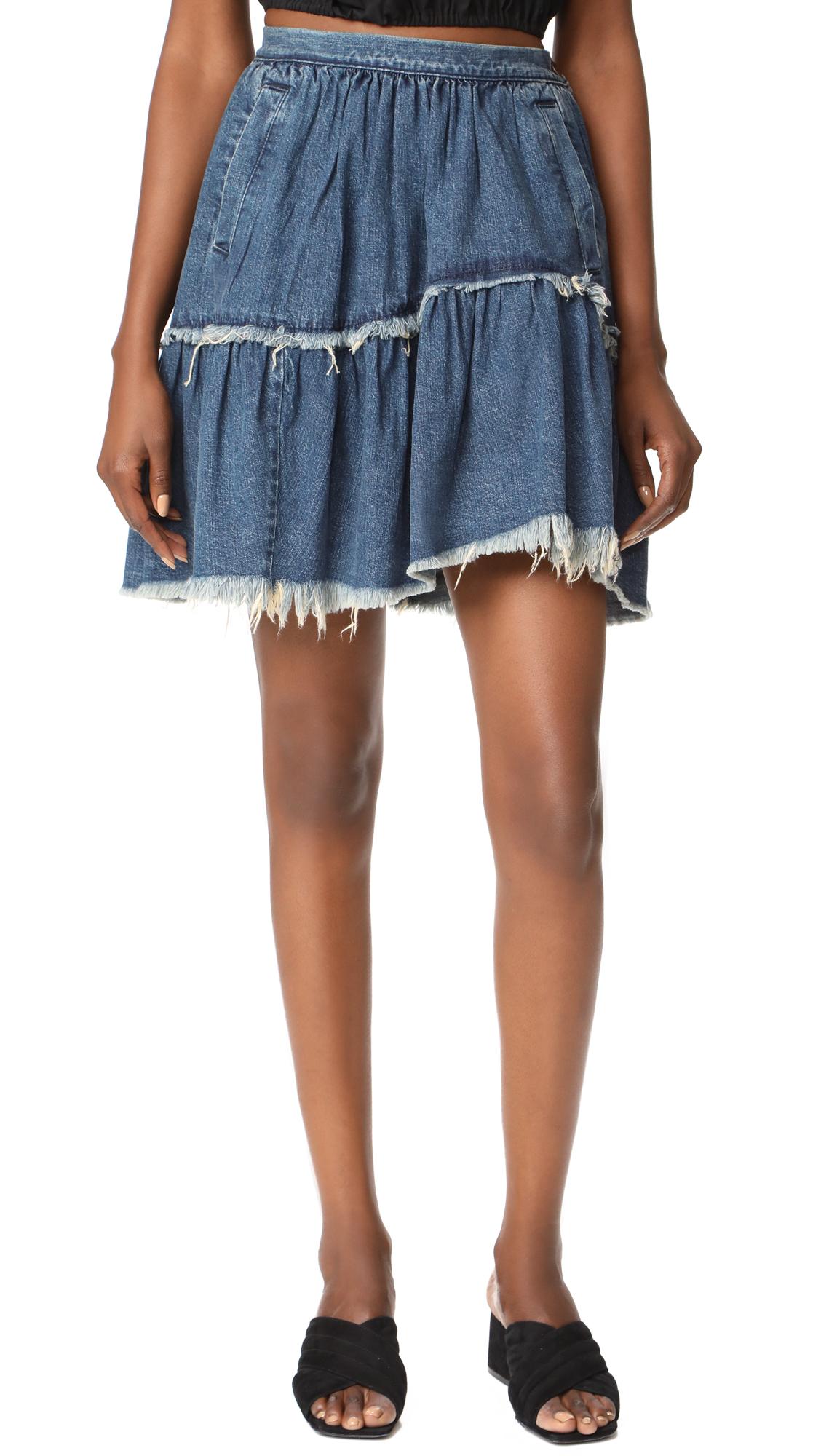 Rachel Comey Denim Crinoline Skirt - Classic Indigo