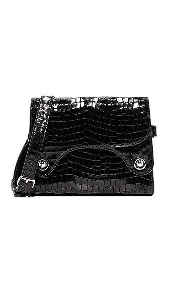 Rachel Comey Croc Embossed Selma Shoulder Bag - Black