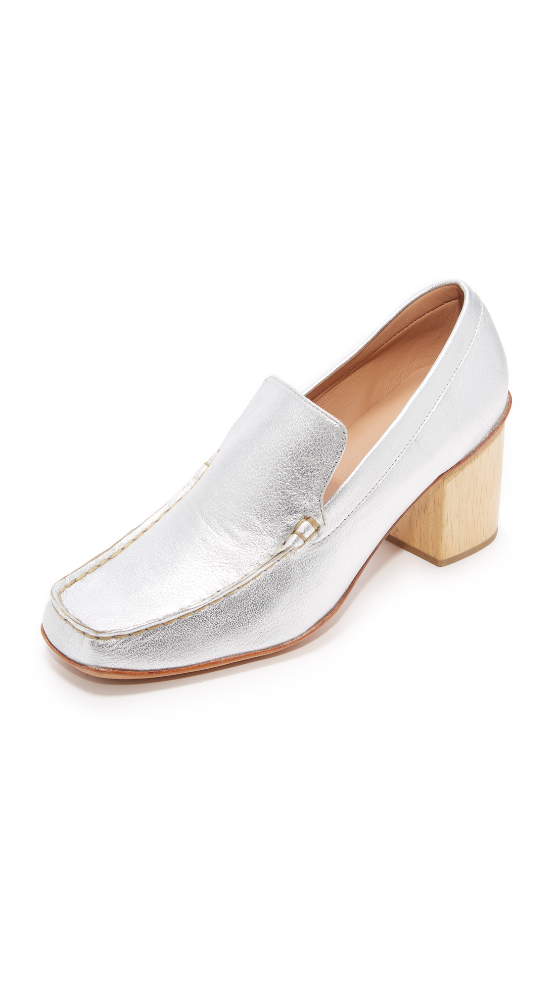 Rachel Comey Dart Loafer Pumps - Silver