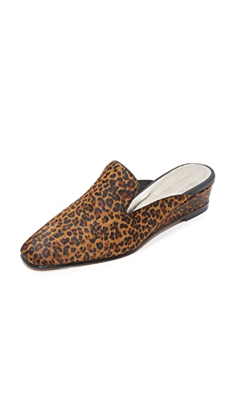 Rachel Comey Wald Wedge Mules - Leopard