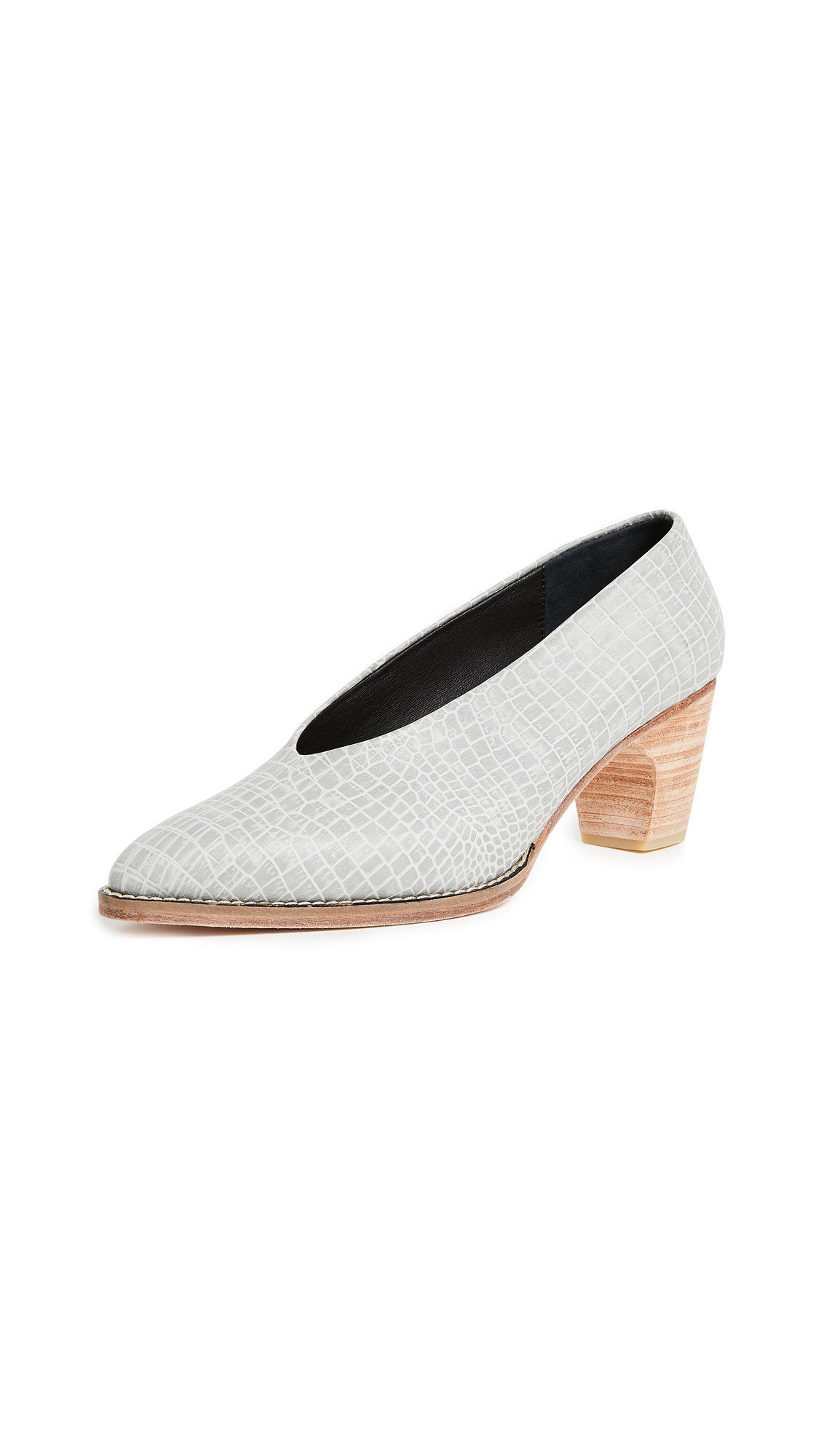 Rachel Comey Curie Choke Up Pumps - Grey Croc