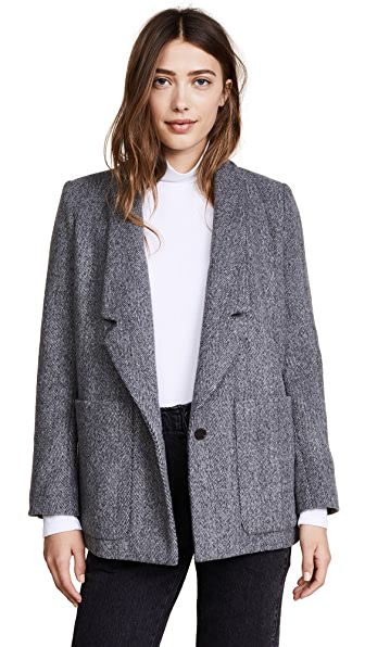 Rachel Comey Loveless Blazer In Charcoal