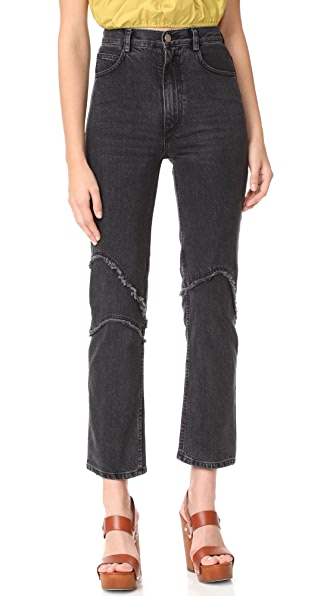Rachel Comey Ticklers Jeans - Washed Black