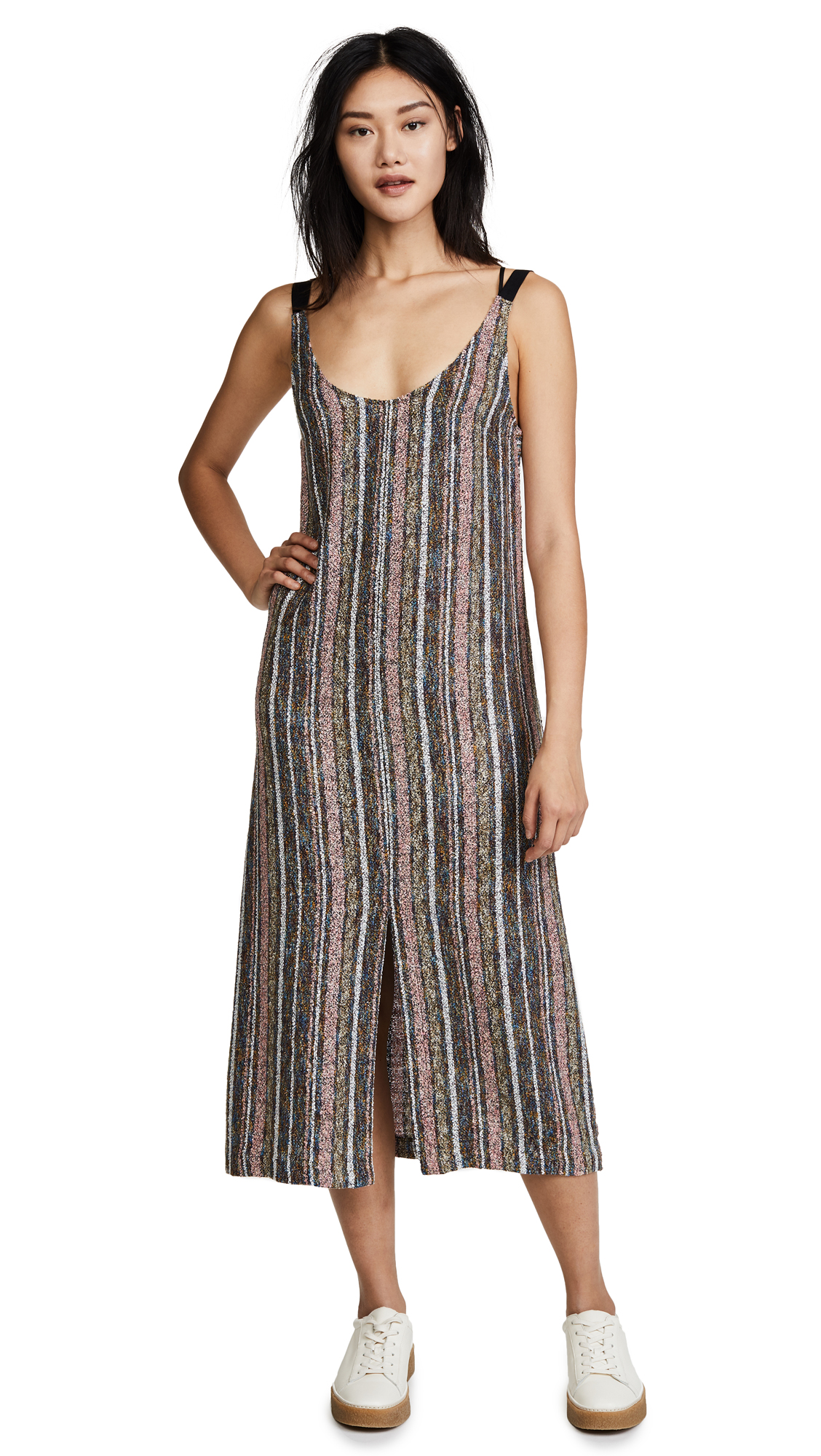 Rachel Comey Brume Dress - Multi Stripe Leno