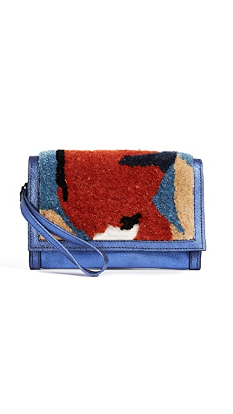 Rachel Comey Roda Clutch In Dark Blue