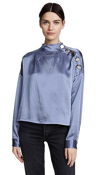 Rachel Comey Esker Top In Silver Blue