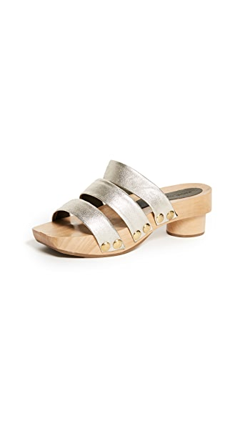 Rachel Comey Camus Clog City Slides In White Gold