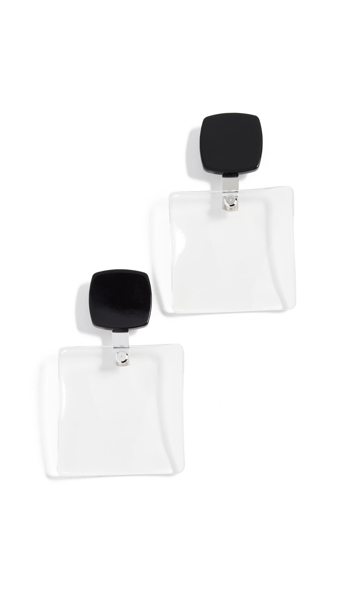 Rachel Comey Delphi Earrings - Black/Clear