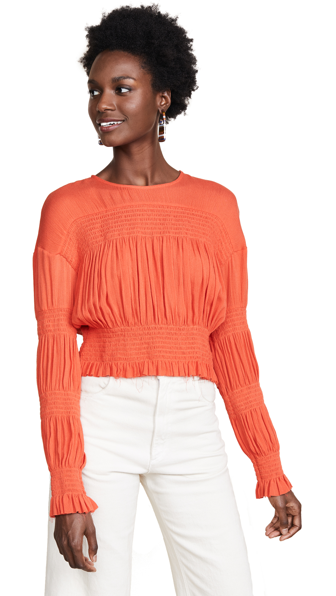 Rachel Comey Penta Top In Coral