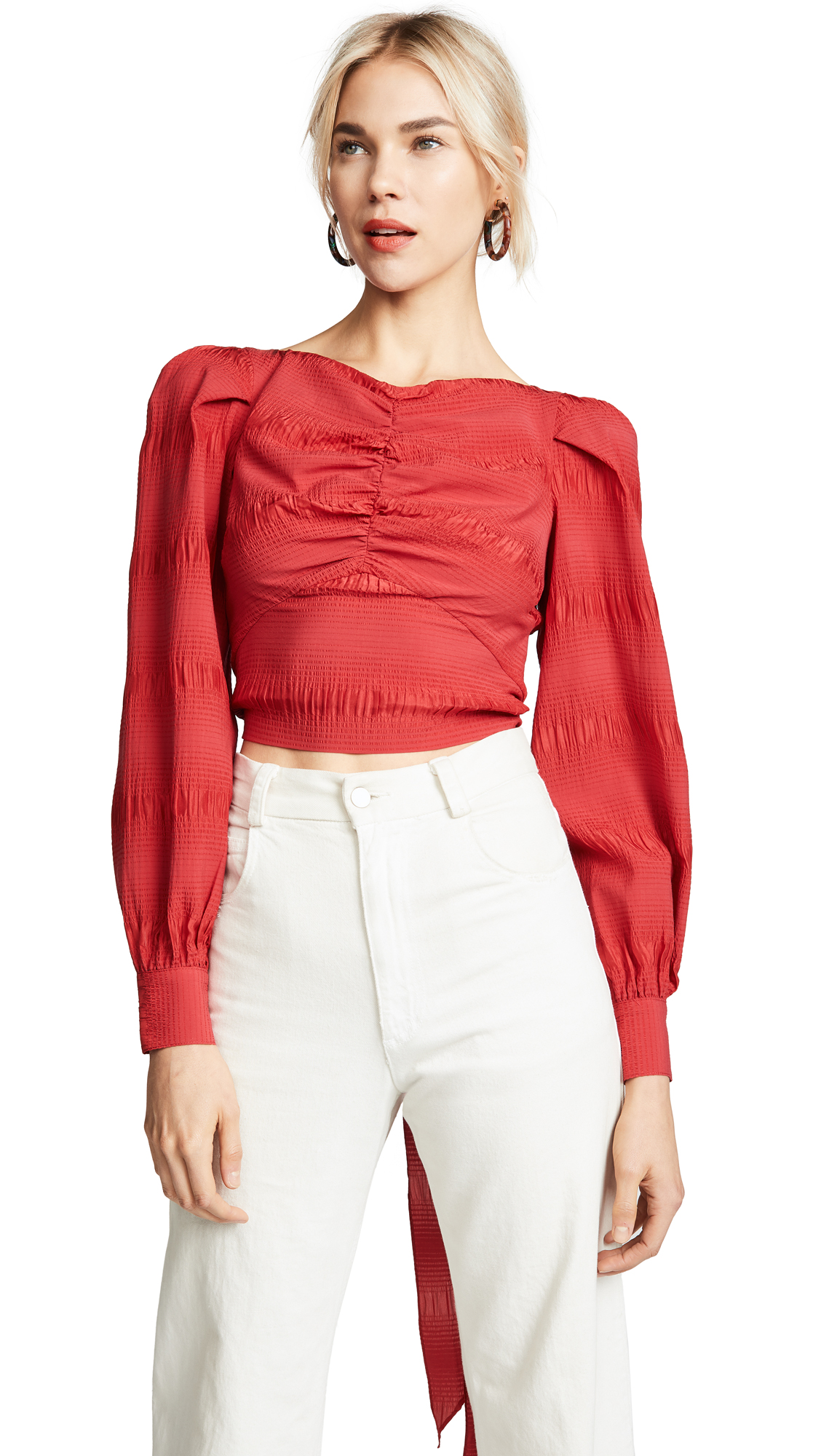 Rachel Comey Bounds Top In Red