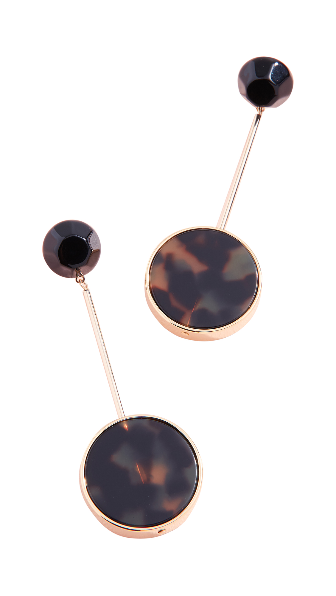 Rachel Comey Lhasa Earrings In Black/Tortoise