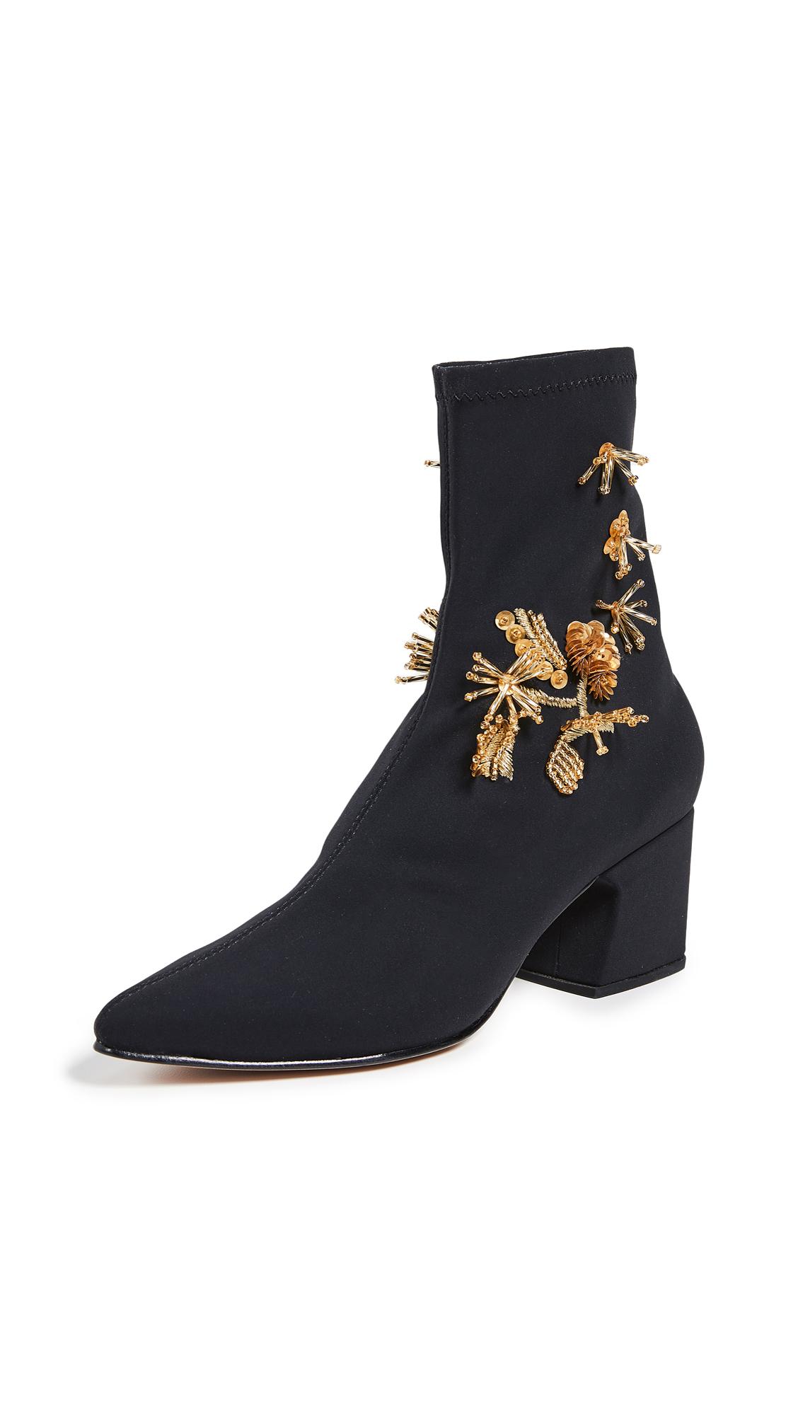 Rachel Comey Zaha Ankle Boots - Black/Gold